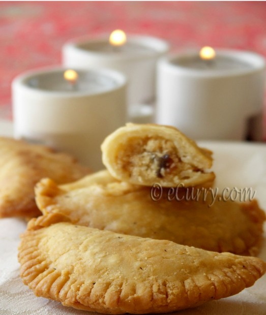 Gujiya/Karanji/-with coconut nut filling