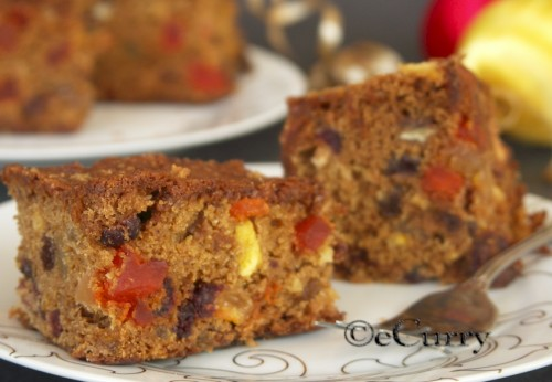 Fruit Cake With Fruit Soaked In Orange Tea