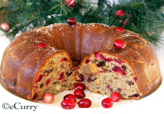 spiced cranberry raisin cake 1