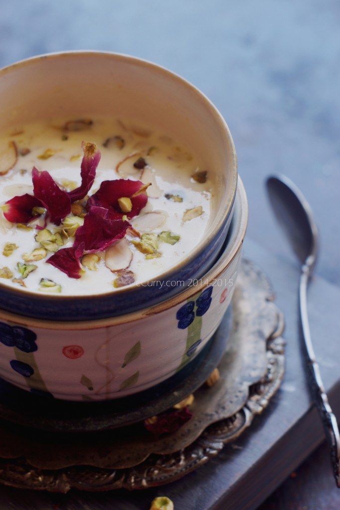 Phirni: Rice Pudding with Saffron & Nuts | eCurry - The Recipe Blog