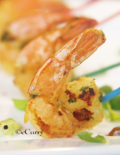 Shrimp Satay – Grilling with Almond Satay Sauce | eCurry - The ...