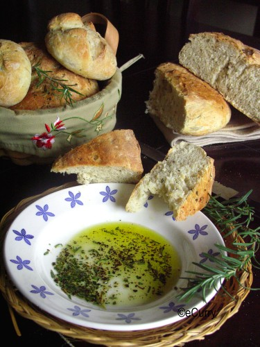 Rosemary Pepper Peasant Bread | eCurry - The Recipe Blog