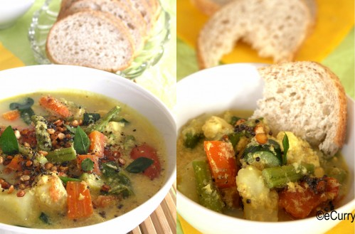 Roasted Vegetable Stew with Coconut Milk | eCurry - The Recipe Blog