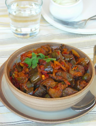 Baingan Patiala (Spicy Stir Fried Eggplants) | eCurry - The Recipe ...