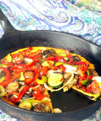 Farinata with Grilled Vegetables | eCurry - The Recipe Blog