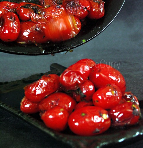 Skillet charred tomatoes 3
