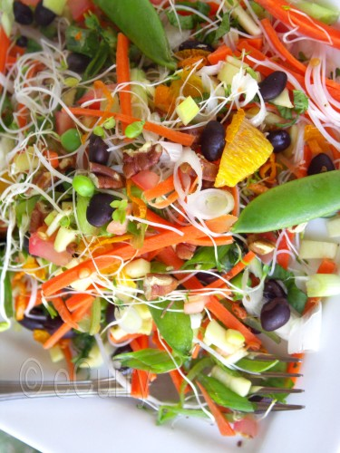 Summer Salad with Citrusy Lavender  2