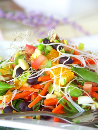 Summer Salad with Citrus, Lavender Dressing | eCurry - The Recipe Blog
