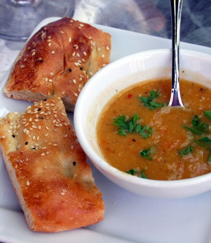 Istanbul red lentil soup