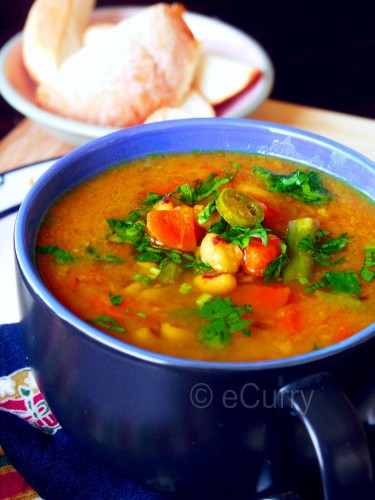 Red Lentil & Vegetable Soup Recipe — Dishmaps