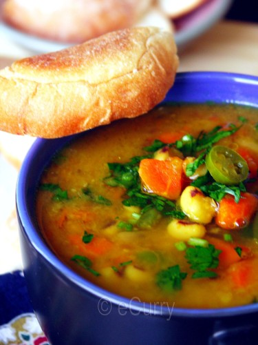 Red Lentil & Vegetable Soup | eCurry - The Recipe Blog