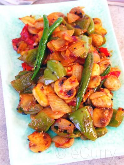 Mushroom Pepper Fry | eCurry - The Recipe Blog