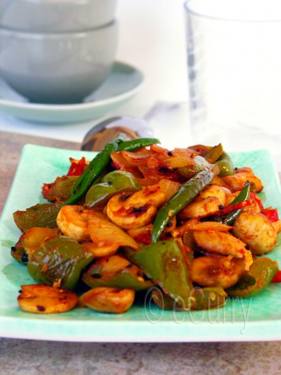 Mushroom &amp; Pepper Fry 3