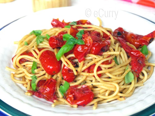 Pasta with Charred Skillet tomatoes 2