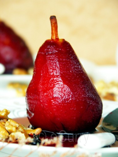 Red Wine Poached Pear 3