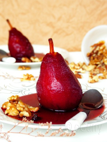 Red Wine Poached Pear 5