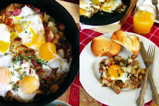 Skillet Eggs Collage 2