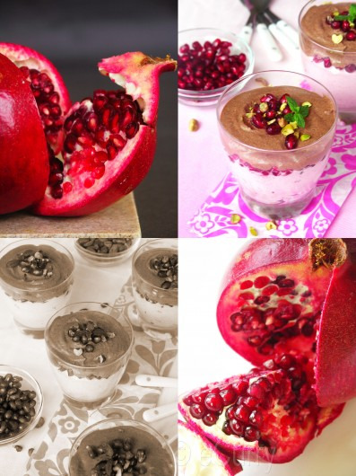 Cranberry Pom Chocolate Mousse Collage 2