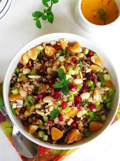 Rice, fruit and nut Salad