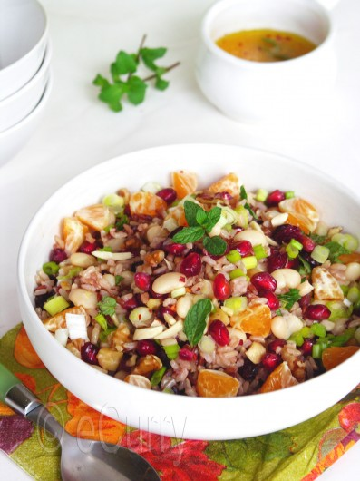 Rice, fruit and nut Salad 4
