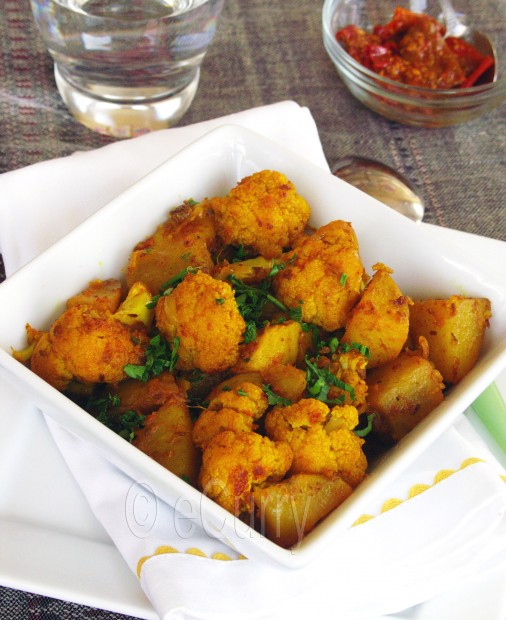 Aloo Gobi / Spiced Cauliflower and Potatoes | eCurry - The Recipe Blog
