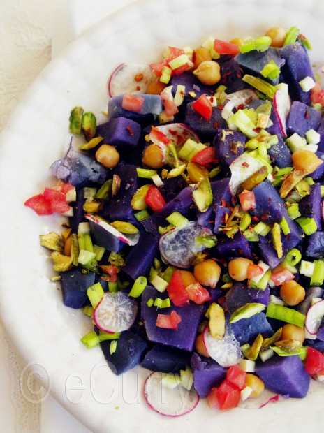 purple potato salad ingredients 3 purple potatoes steamed peeled cubed