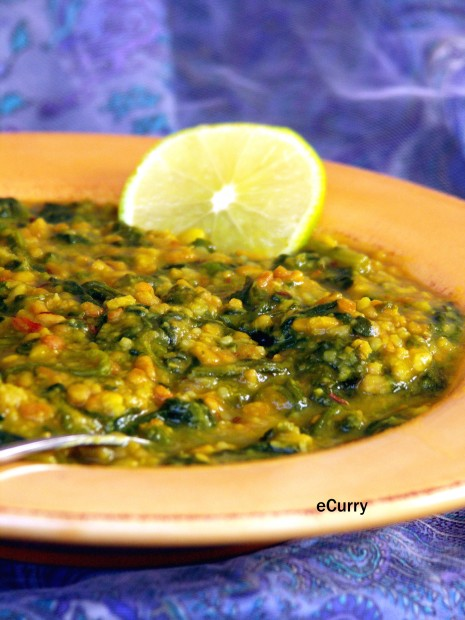 Palak Dal/Lentils with Spinach