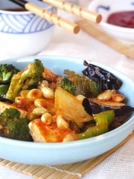 Tofu Stir Fried with Peanuts