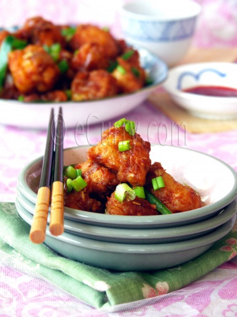 Gobi Manchurian/Cauliflower Fritters in Spicy Sauce | eCurry - The ...