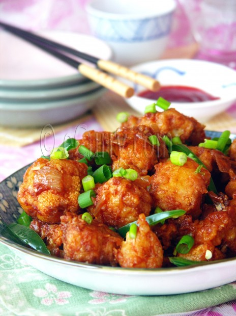 Gobi Manchurian/Cauliflower Fritters