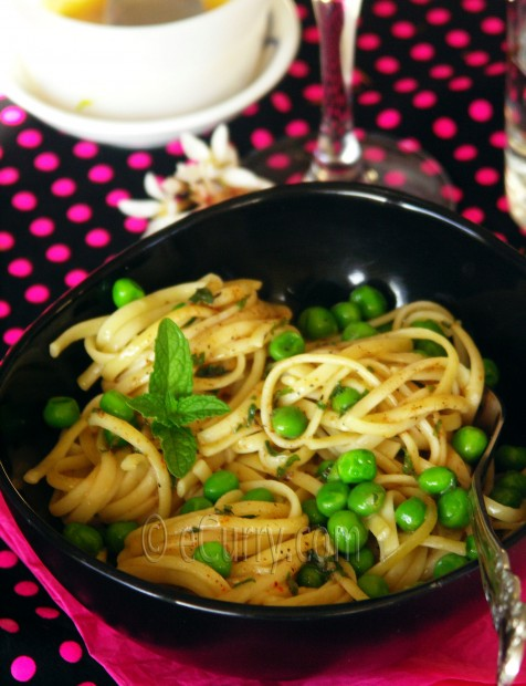 Pasta with Mint Butter and Peas