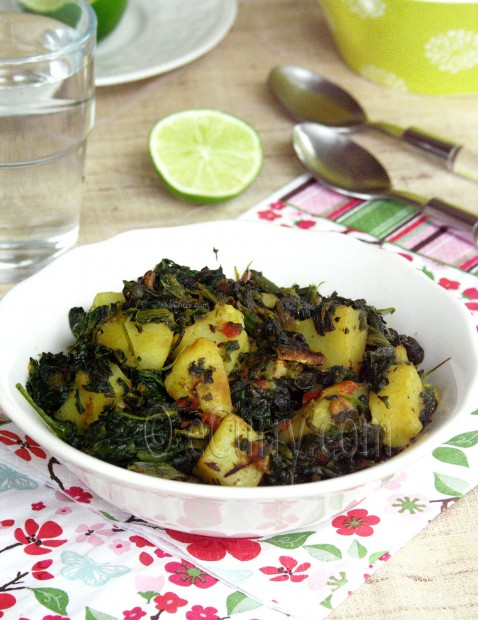 Aloo Palak/Spinach and Potato recipe