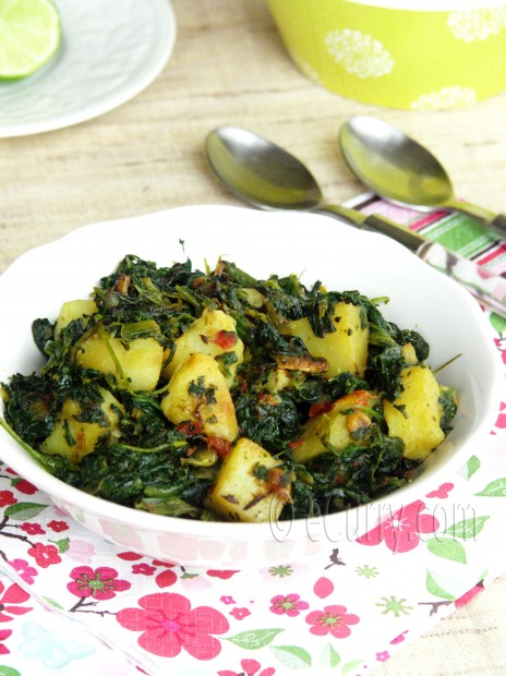 Aloo Palak/Spinach with Potatoes | eCurry - The Recipe Blog