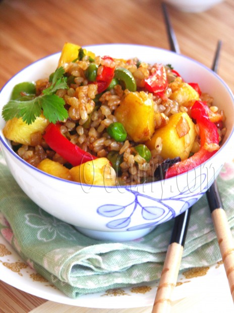 Brown Rice and Pineapple Fried Rice | eCurry - The Recipe Blog