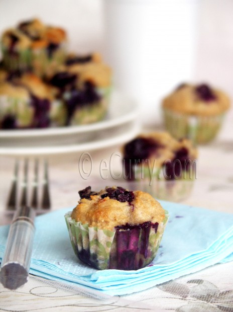 Lime and Blueberry Muffins Recipe