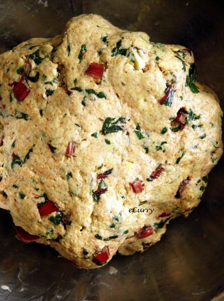 Chard Garlic Roti