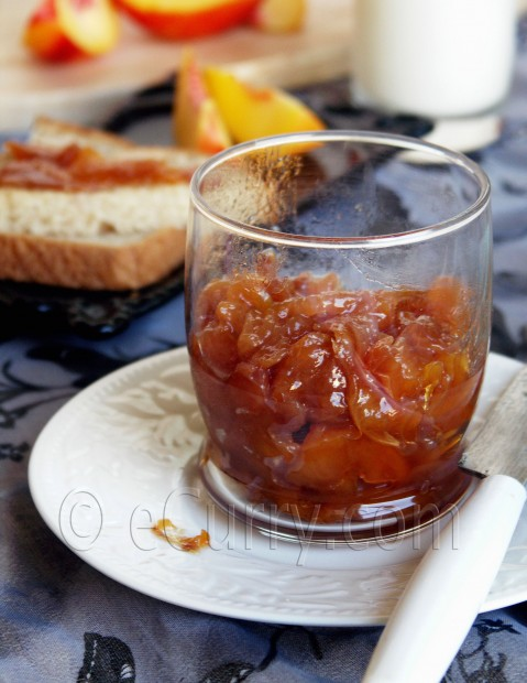 Nectarine Preserve | eCurry - The Recipe Blog