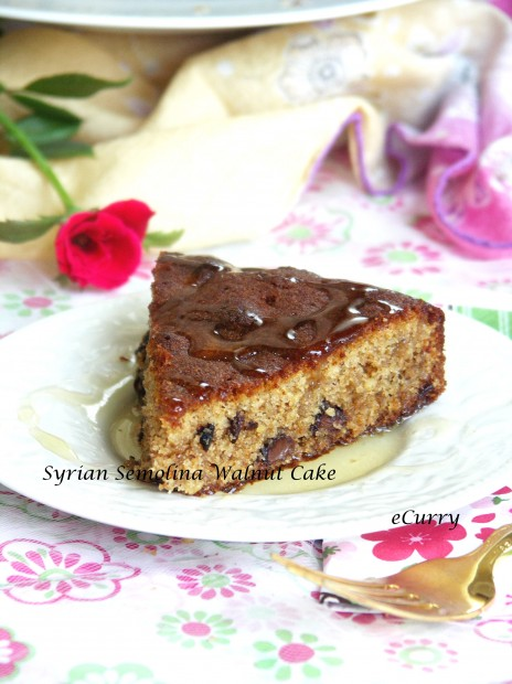 Syrian Walnut Chocolate Cake