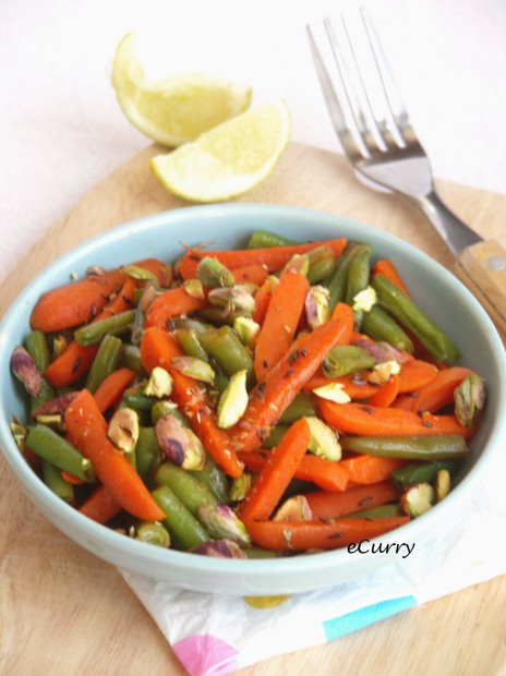 Carrots and Beans with Caraway