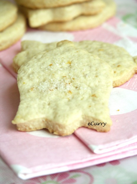 Orange Ginger Shortbread Cookies | eCurry - The Recipe Blog