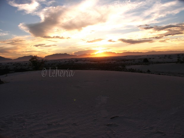 White Sands - Sunset