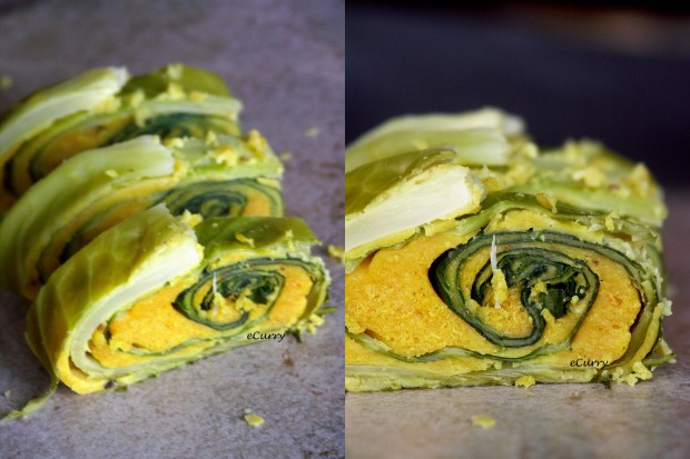 Cabbage Roulade Collage