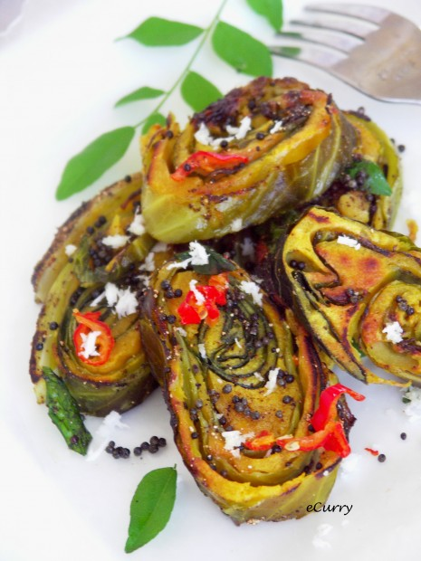 Cabbage and Chickpea Roulade