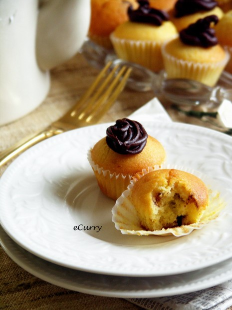 Orange Chocolate Chip Cupcake