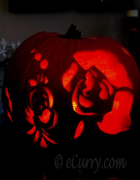 Disney Theme Jack O Lantern -Ariel