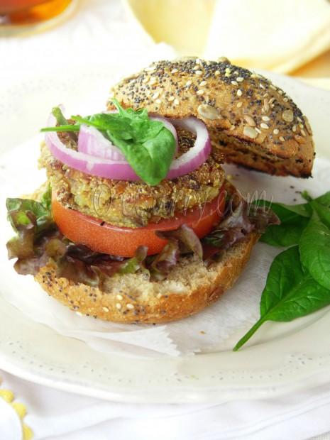 Mushroom Almond Burger