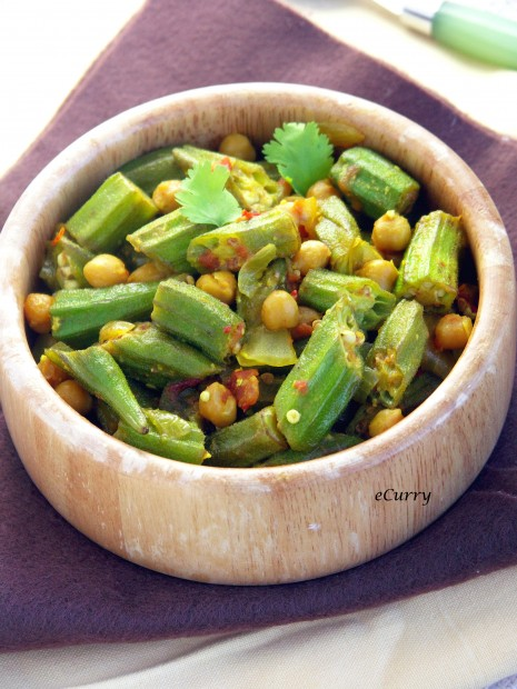 Okra with Chickpeas 