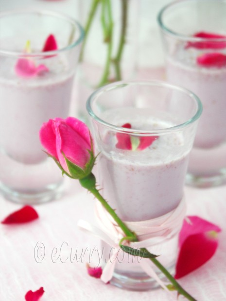 Saffron Yogurt Mousse With Rose Petal Honey Recipes — Dishmaps