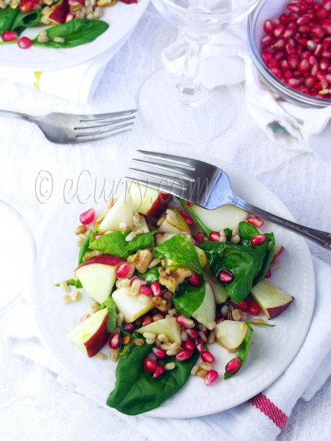 Barley and Spinach Fall Salad