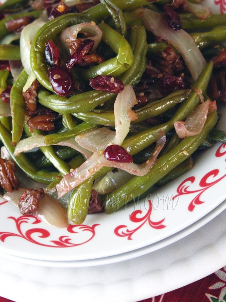 Beans with Pecans and Cranberries
